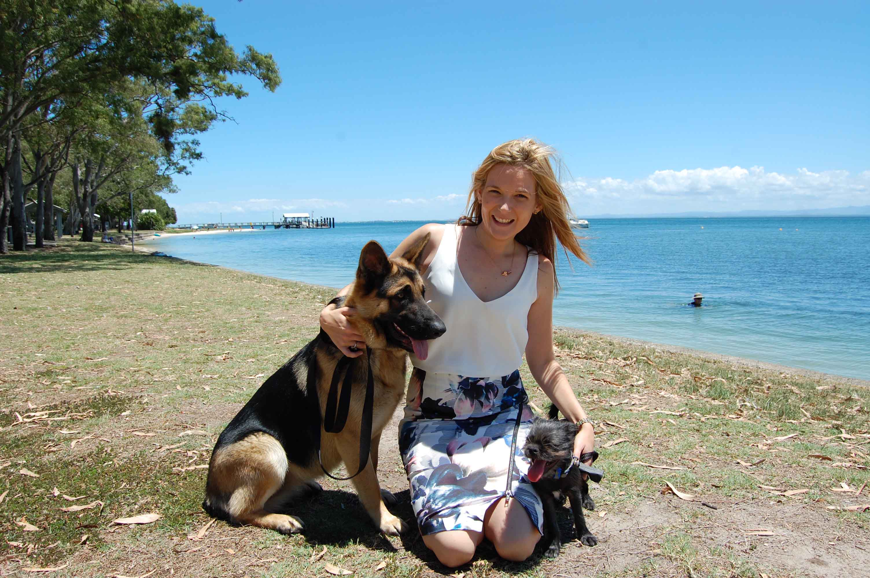 Bribie island camping with dogs