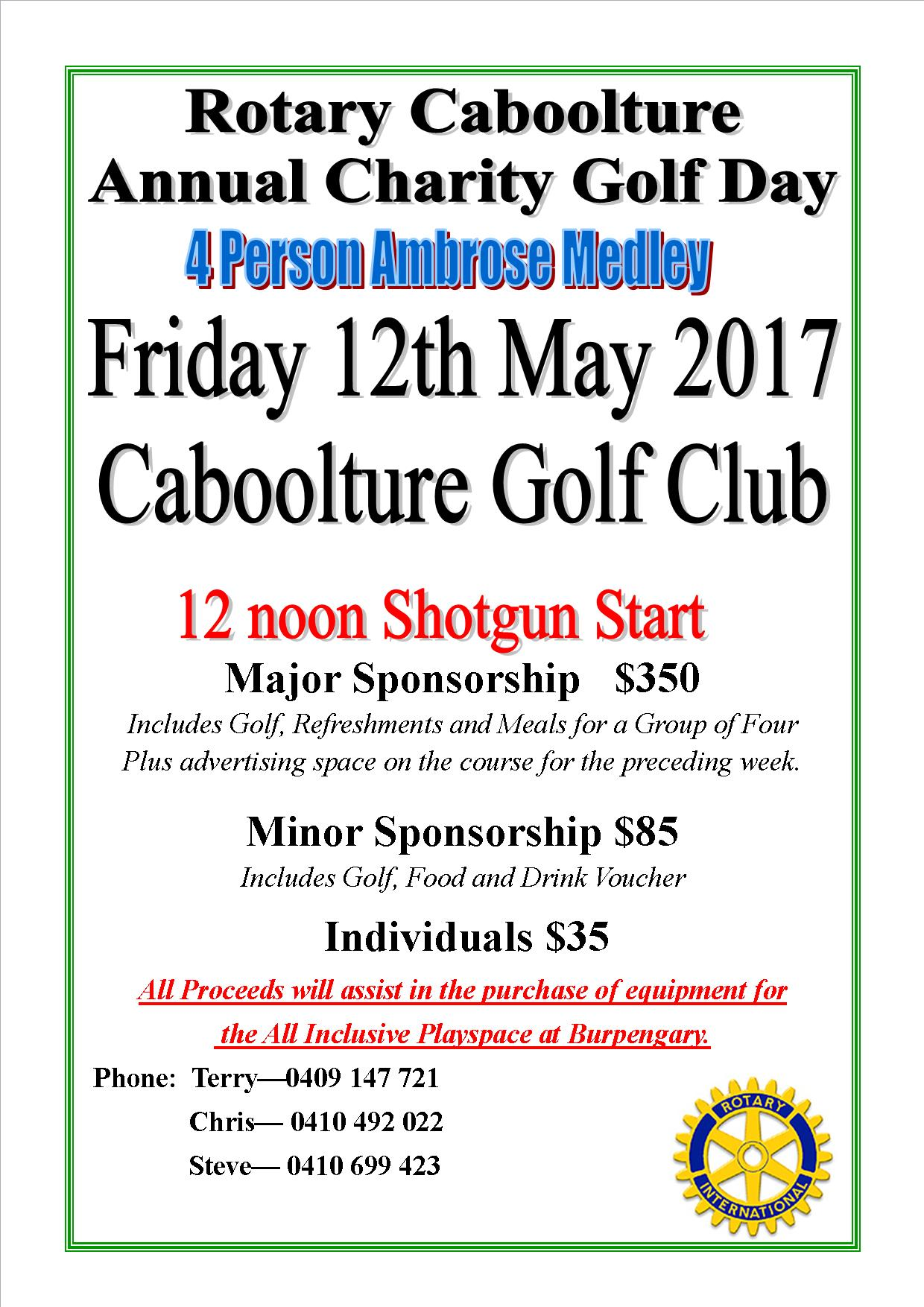 Golf Day 2017 Flier