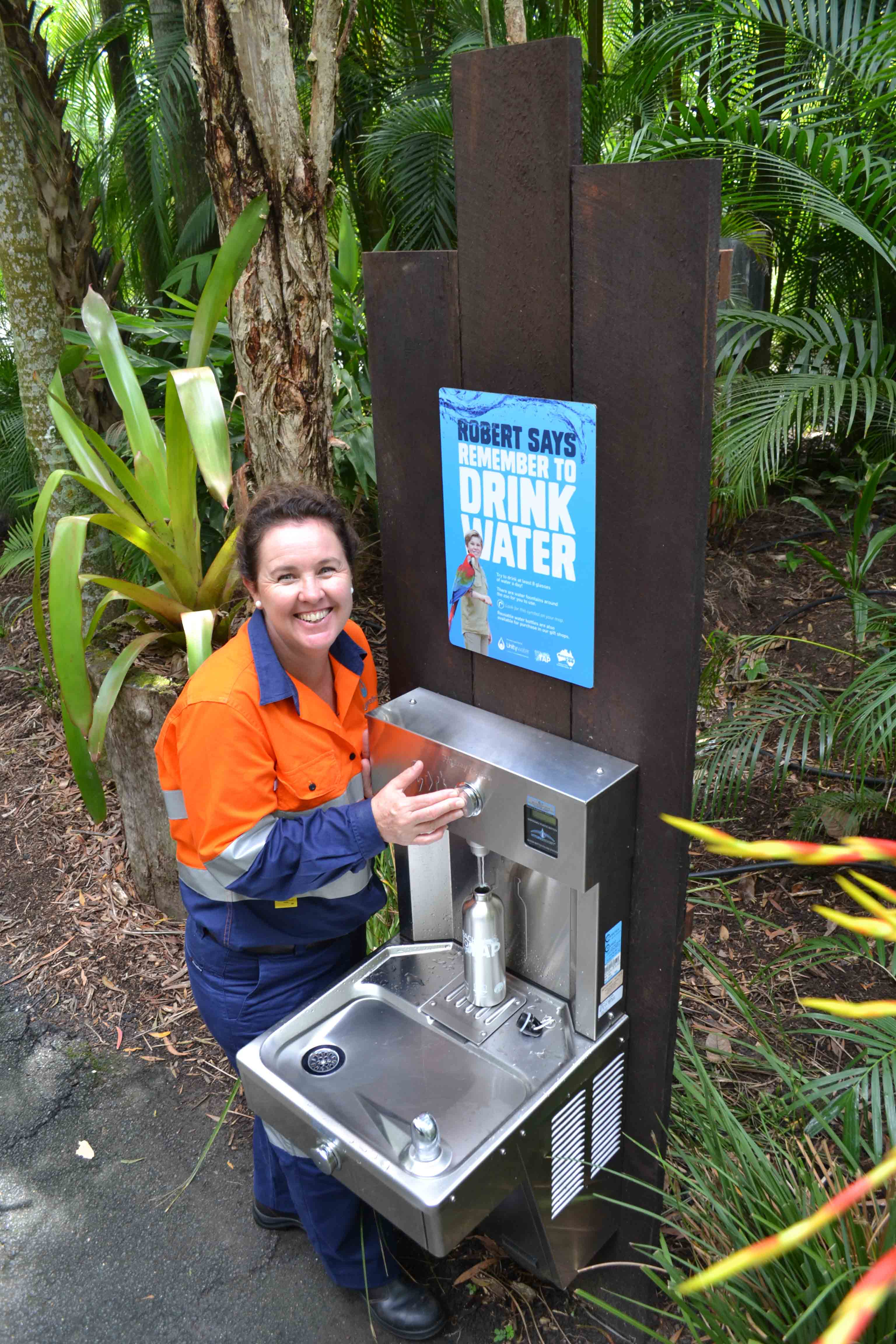 Unitywater refill stations at Australia Zoo fill up 24,000 ...