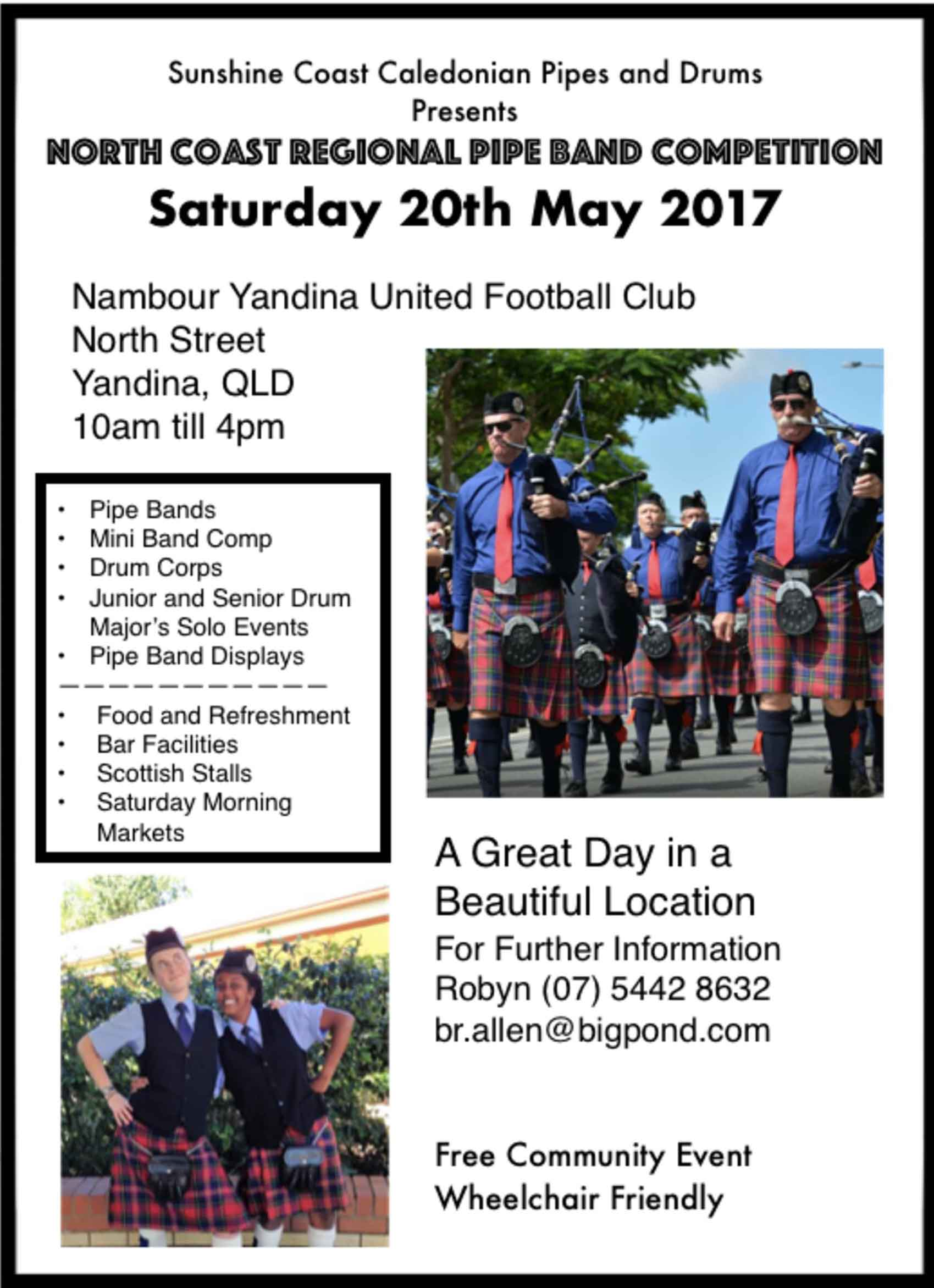 North Coast Regional Pipe Band Competition 2017 small