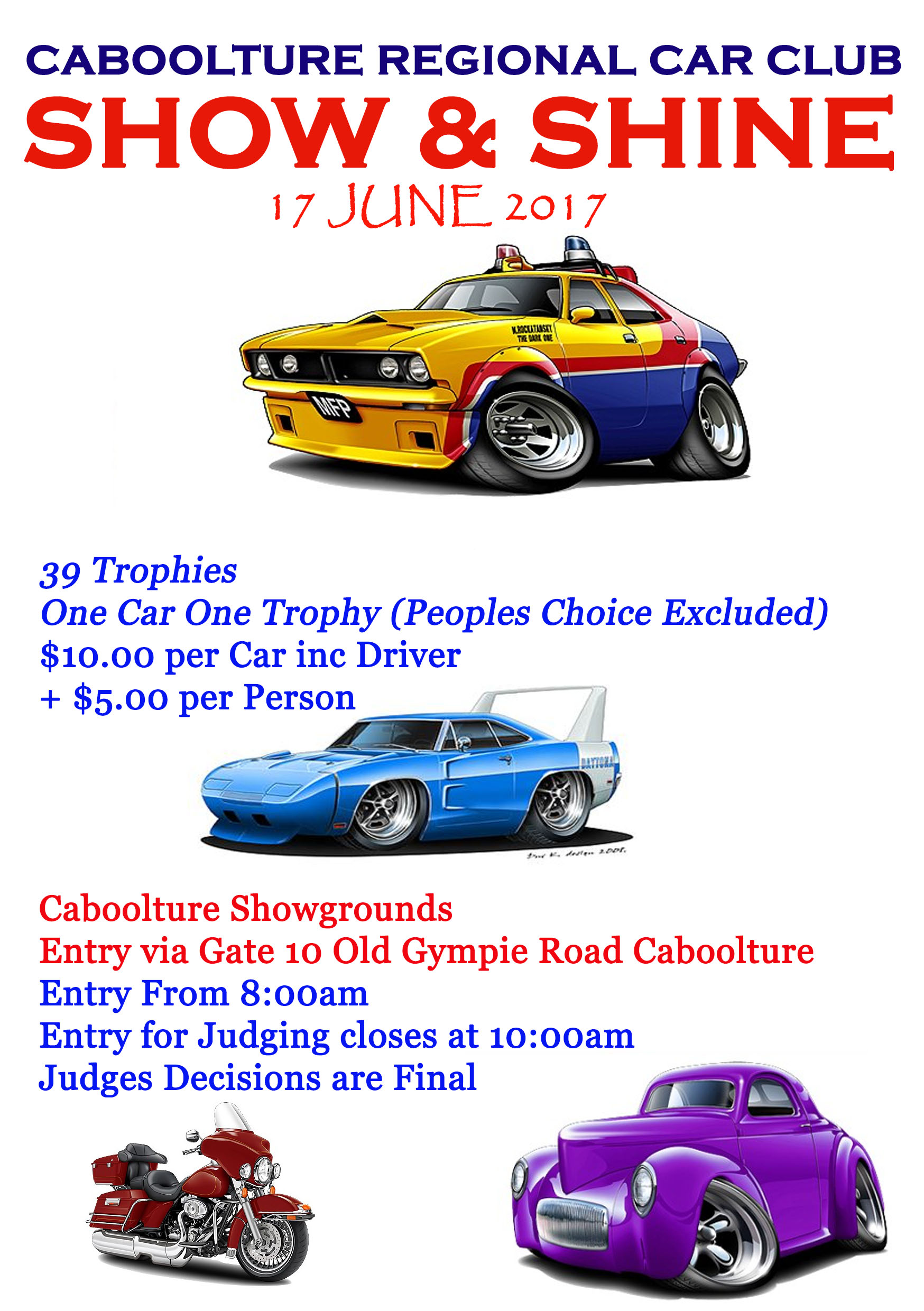 Caboolture Swap Show and Shine 17 June 2017 Show Template