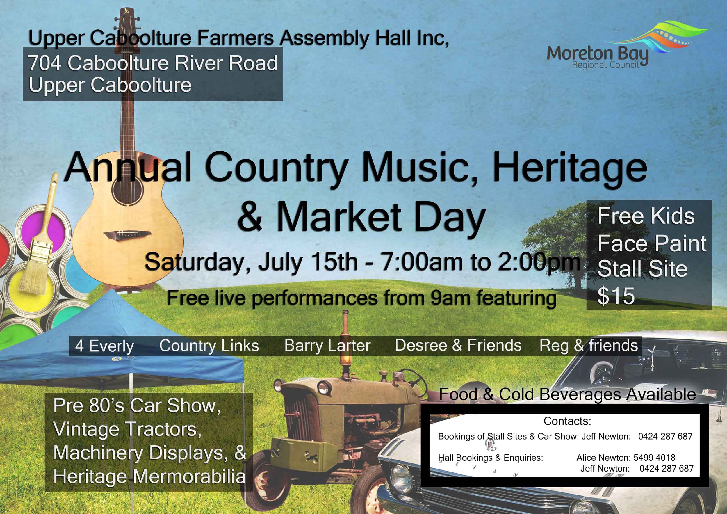 upper caboolture music heritage and market day flyer small