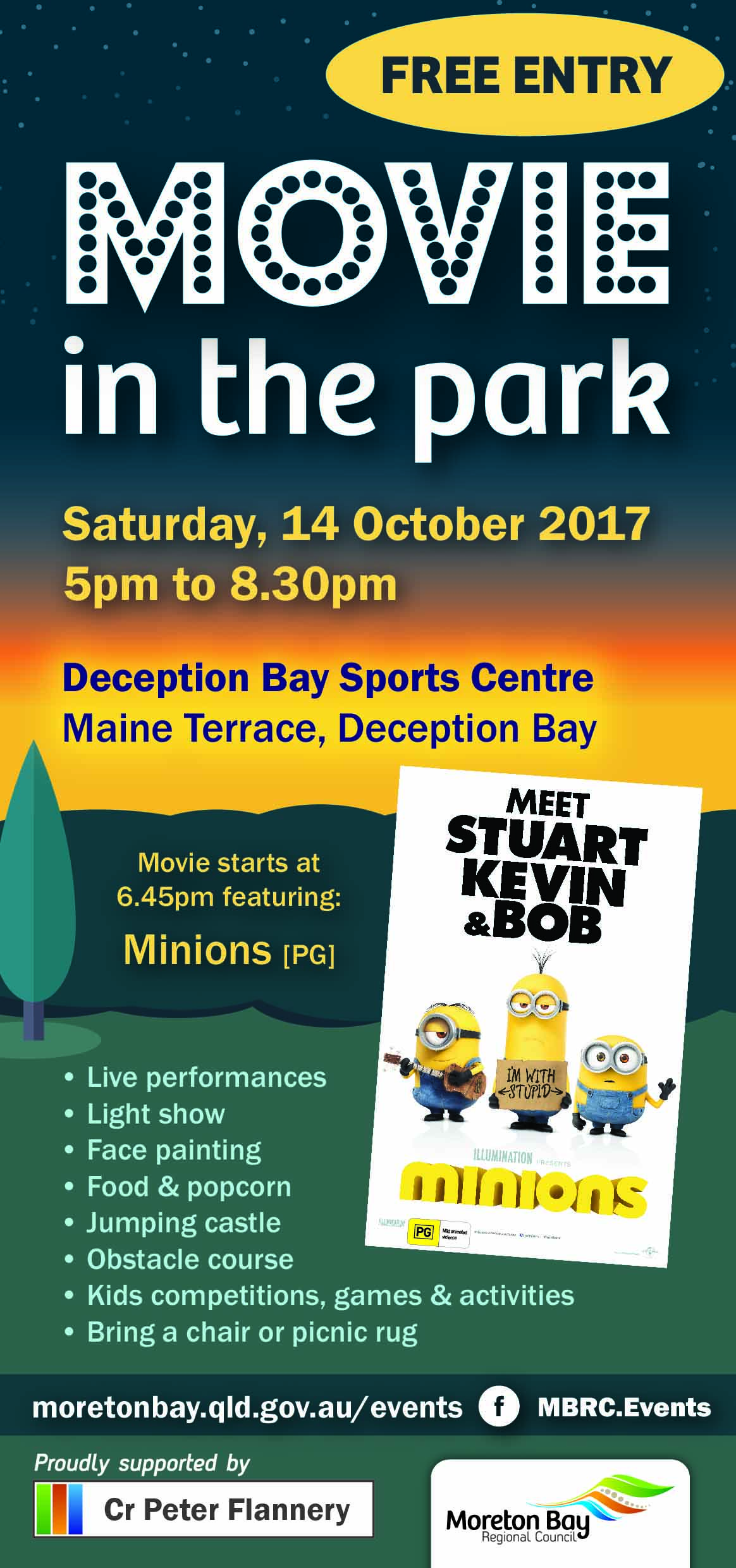 Movie In The Park Deception Bay 2017