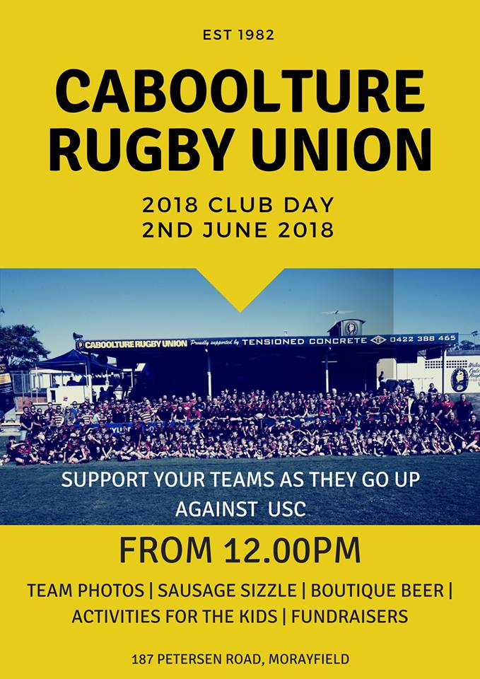 Caboolture Rugby Union Club Day 2018