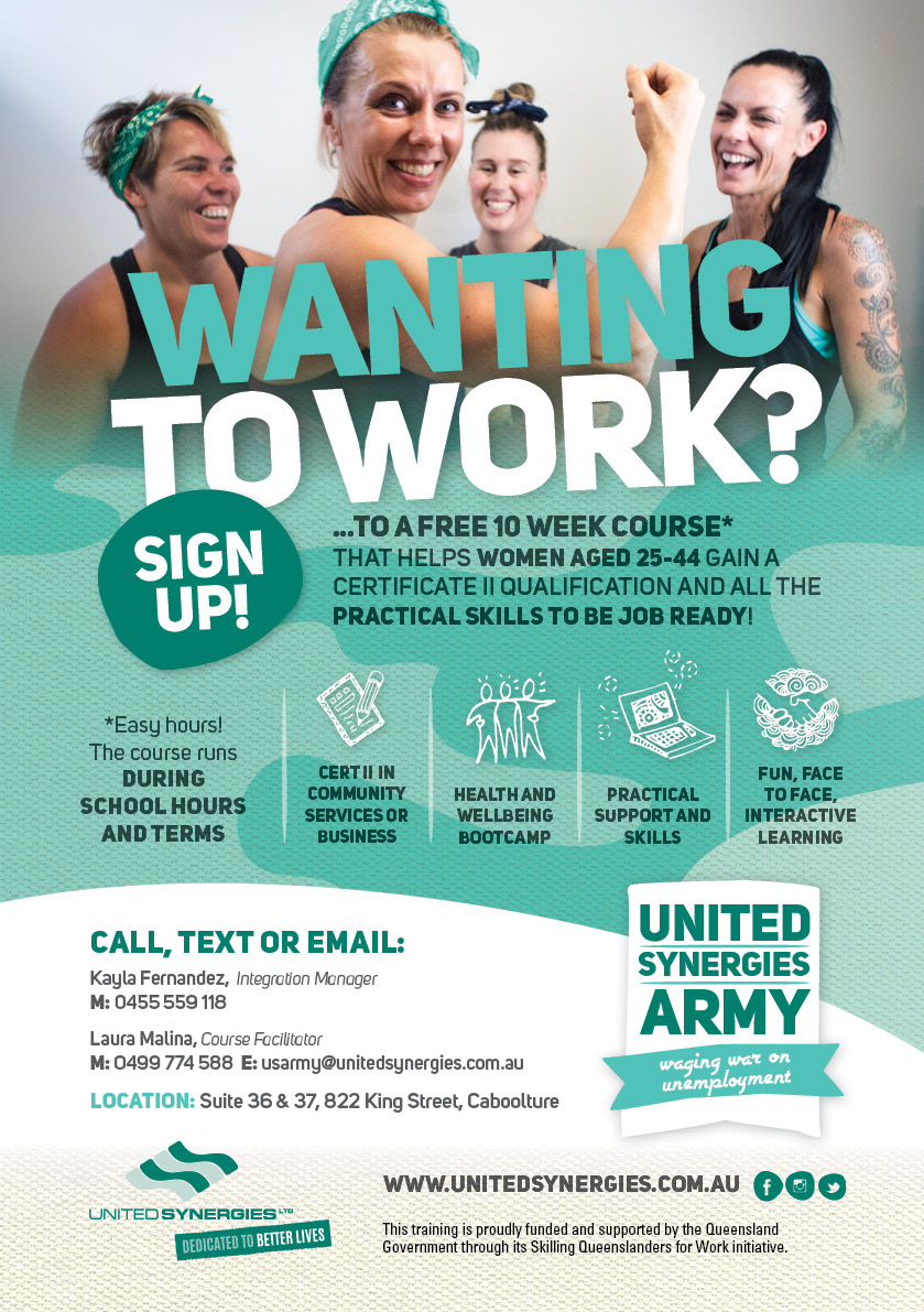 United Synergies mumsarmy_A5_Caboolture