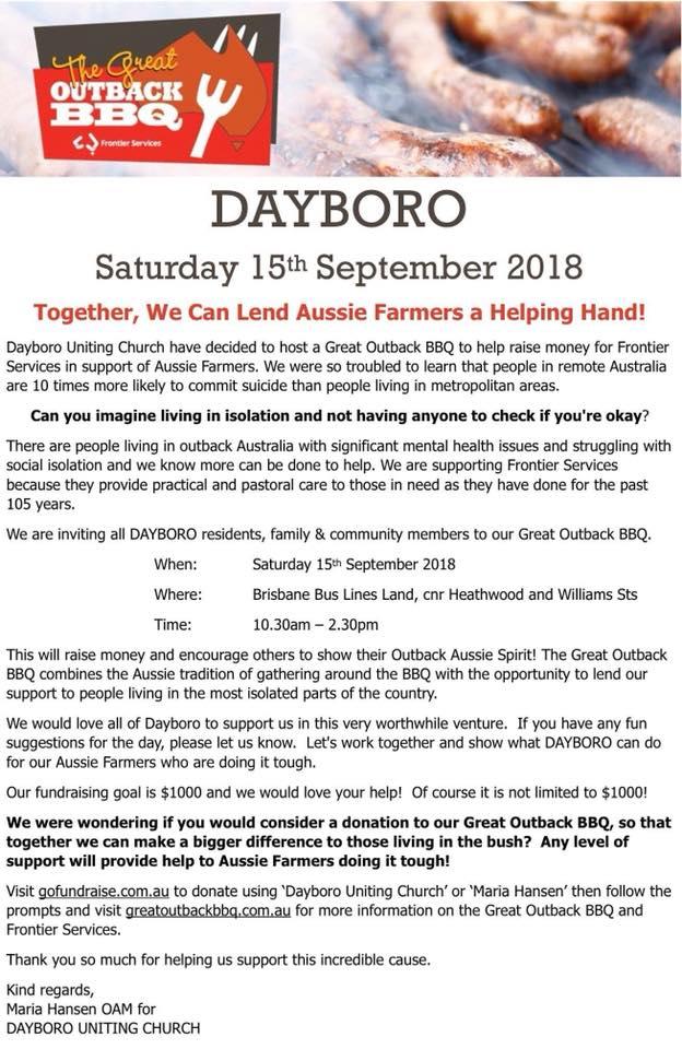 Dayboro Help Farmers Grimwade Sept 15