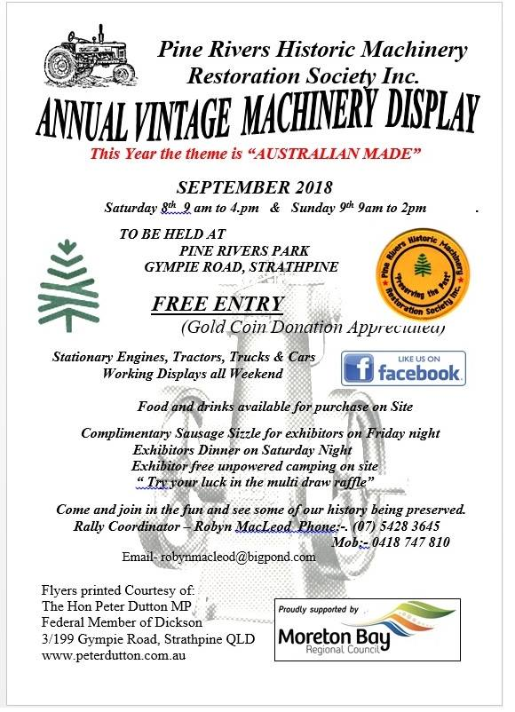 Pine Rivers Historical Machinery day