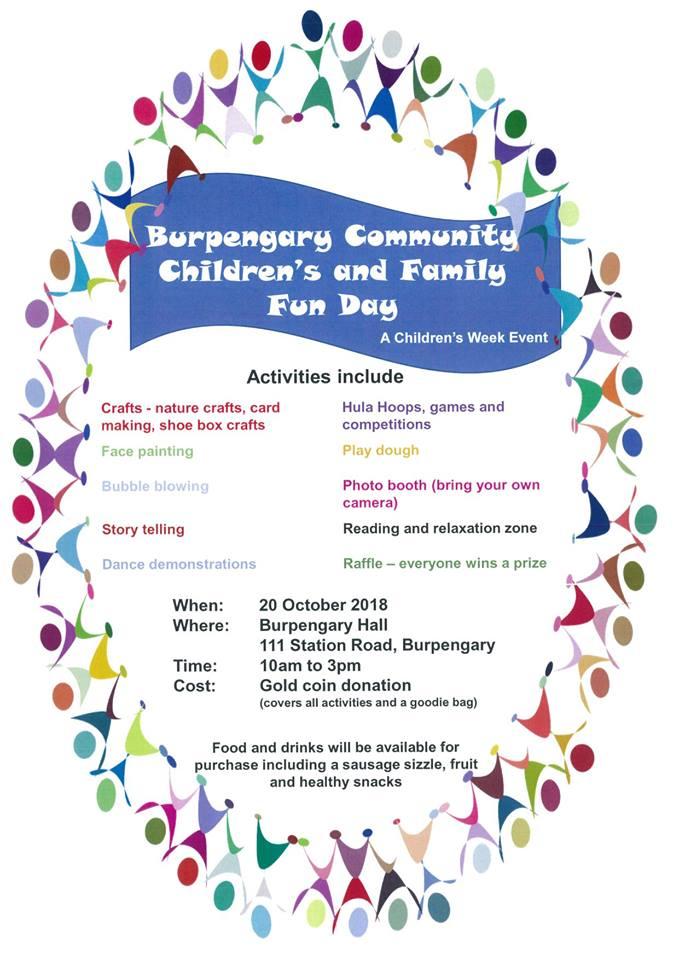 Burpengary Community Family Fun Day 20 Oct