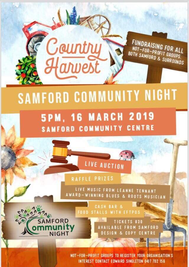 Country Harvest Samford 16 March