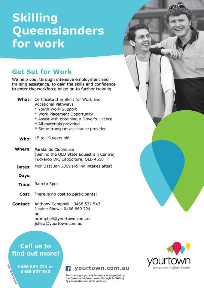 Skilling Queenslanders for Work Headspace Caboolture Jan 2019