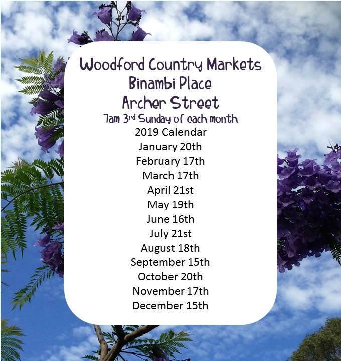 Woodford Lion Markets 2019 calendar